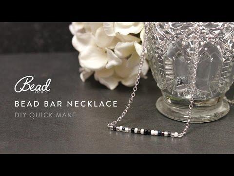 Bead Bar Necklace - DIY Quick Make - Bead House