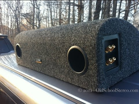 Old School Polk Audio C4 Subwoofer - Four 6x9 Subs in Isobaric Teardrop Enclosure