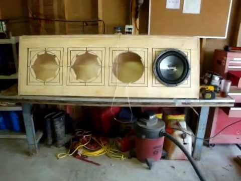 unfinished custom 4 12 inch subwoofers box