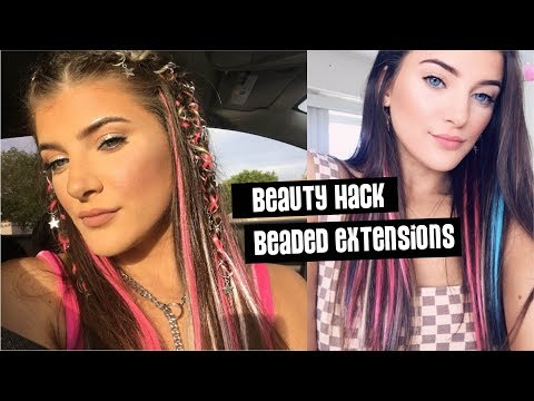 Beauty Hack   DIY Rainbow Colored Hair Extensions