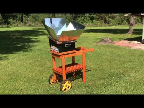 Modified the solar oven cart for the new sun oven