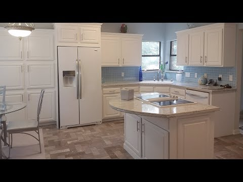 DIY Kitchen Remodel On A Budget - Painted White Washed Cabinets White