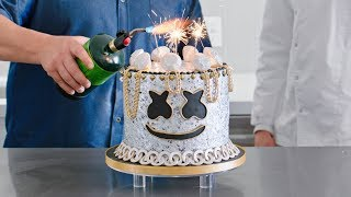Yummy Light It Up Party Cake Decorating Tutorial with Chef Duff Goldman | Cooking with Marshmello