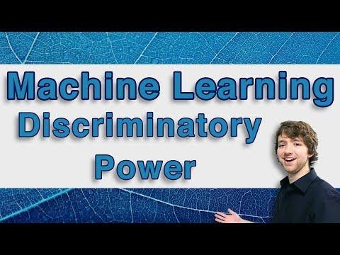 Machine Learning and Predictive Analytics - Discriminatory Power - #MachineLearning