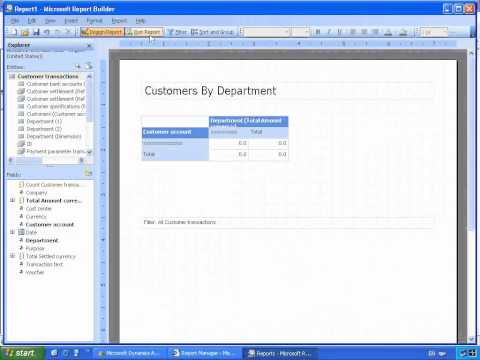 Microsoft Dynamics AX SSRS Report Builder