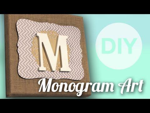 DIY Monogram Art | ArtsyPaints
