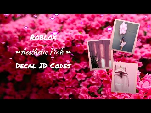 Roblox Aesthetic Pink Decal ID Codes