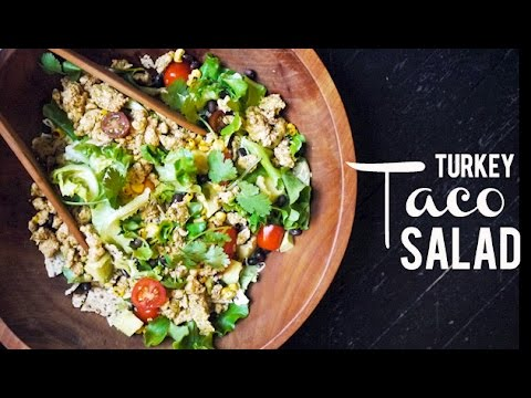 Super-healthy Turkey Taco Salad (COLLAB ENTERTAINING WITH BETH!) | One Hungry Mama