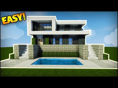 Minecraft: How to Build a Modern House - Easy Tutorial (How to Build a  Simple House in Minecraft)