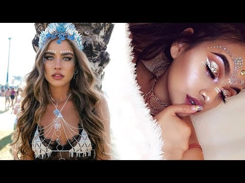 Music Festival   Coachella Inspired Makeup Tutorial! New hair style 2018 The Best hair