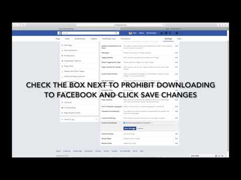 HOW TO PREVENT PEOPLE FROM DOWNLOADING YOUR PAGE'S VIDEOS TO FACEBOOK