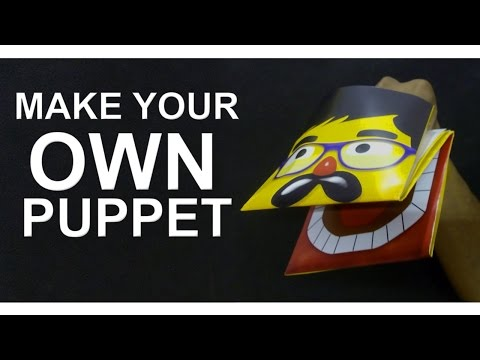 How To Make Your Own Hand Puppet - Easy Make Paper Puppet - F2BOOK