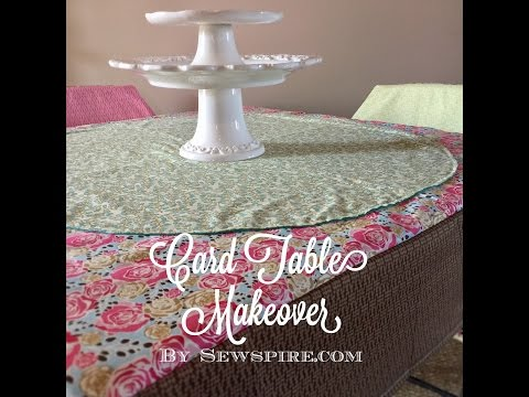 How to Sew a Table Cloth to Fit A Card Table by Sewspire Sewing