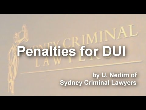 Penalties for DUI