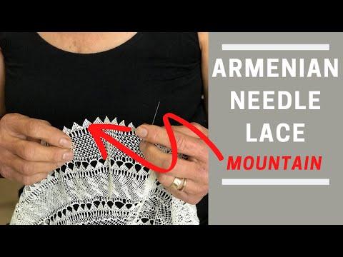 Armenian Needle Lace Design: Ararat Mountain