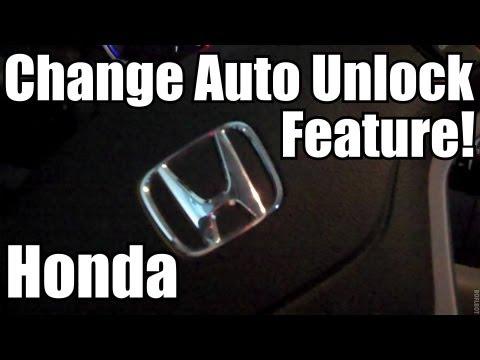 How To Change Honda Auto Door Unlock Settings