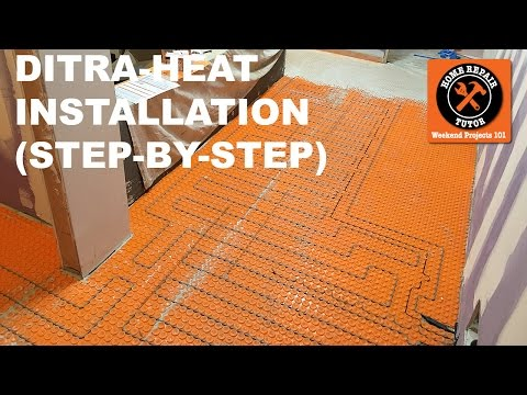 DITRA-HEAT Heated Flooring Systems Installation (Step-by-Step) -- by Home Repair Tutor