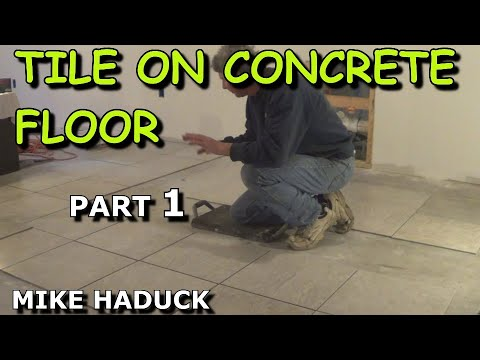 How I lay tile on a concrete floor (part 1 of 2)  Mike Haduck
