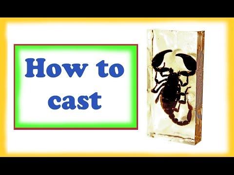 Scorpion in cast resin