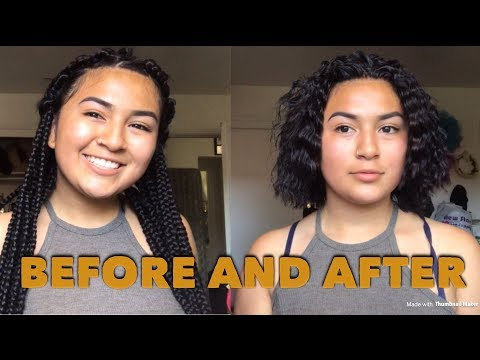 TAKING OUT MY BRAIDS |First time experience