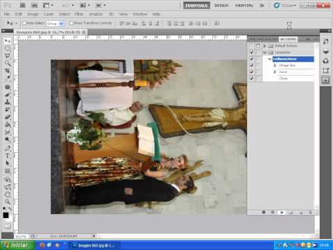 photoshop cs5 - actions - redimensionamento de fotos em lote