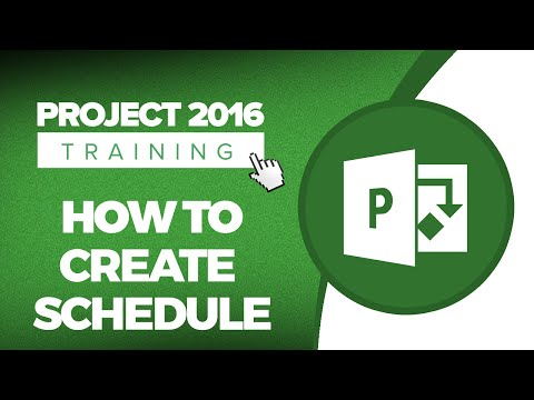Microsoft Project 2016 Training - How to Create a Schedule in MS Project 2016