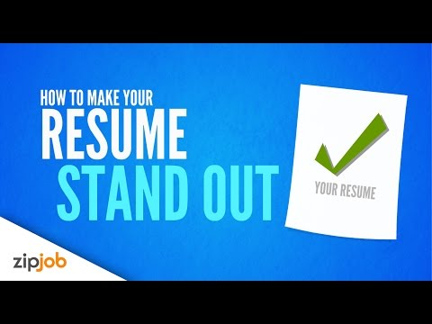 Making your Resume Stand Out from the Crowd (2017)