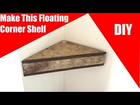 Making Floating Corner Shelves
