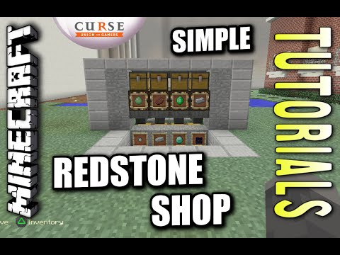 Minecraft PS4 - REDSTONE SHOP - How To - Tutorial ( PS3 / XBOX )