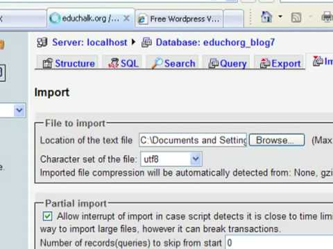 How to Import a Large WordPress Database -- An Alternative to phpMyAdmin -- Part 1 of 2