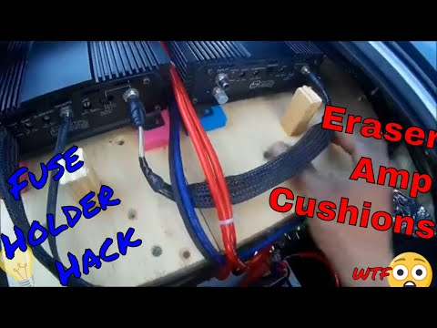 Fuse holder MODIFIED and Amp Cushions