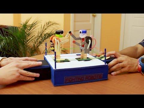 DIY FIGHTING ROBOTS  with icecream sticks