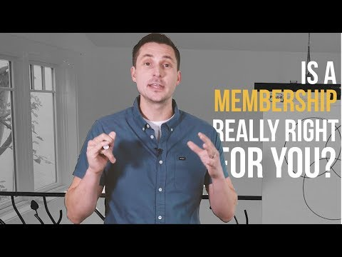 Membership Masterclass 1 of 3: Is It a Right Fit?