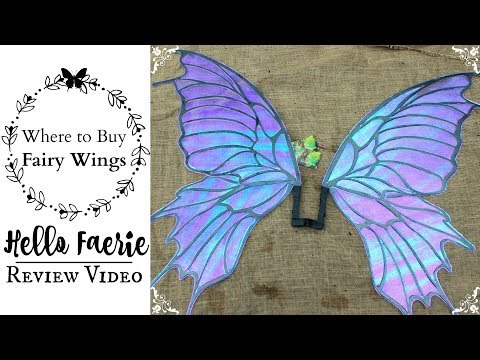 Hello Faerie Wings Review & Unboxing Video: WHERE TO BUY REALISTIC FAIRY WINGS FOR COSPLAY COSTUMES