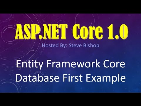 24. (ASP.NET Core 1.0 & MVC) Entity Framework Core Database First Example