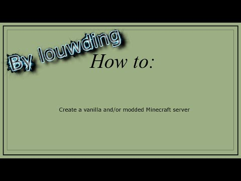 HOW TO: Create a vanilla or modded Minecraft server