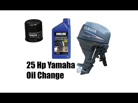 25 Hp Yamaha 4 Stroke Outboard Oil and Filter Change