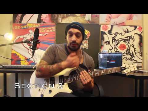How to play 'Buried Alive' by Avenged Sevenfold Guitar Solo Lesson w/tabs pt1