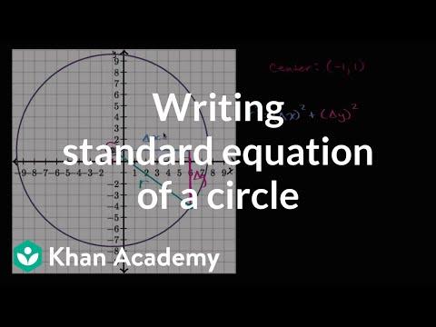 Writing standard equation of a circle | Mathematics II | High School Math | Khan Academy