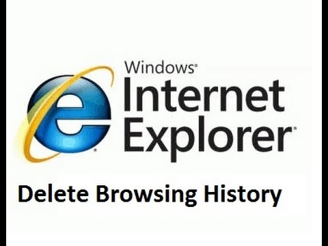 Delete browsing history of Internet Explorer