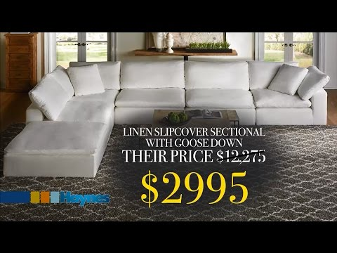 Slipcover Sectional with Goose Down $2995