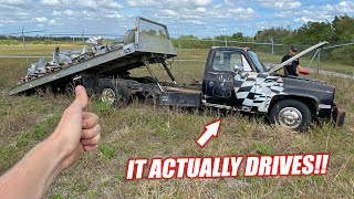 Saving Our ABANDONED Freedom Factory Tow Truck!!! First Attempt at Driving It!