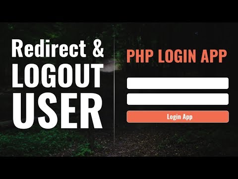 User Redirection and Logout | PHP Login App in Hindi | vishAcademy