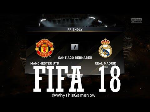 Fifa18 The Hindi Gamer - Manchester United vs Real Madrid | 4K Gameplay