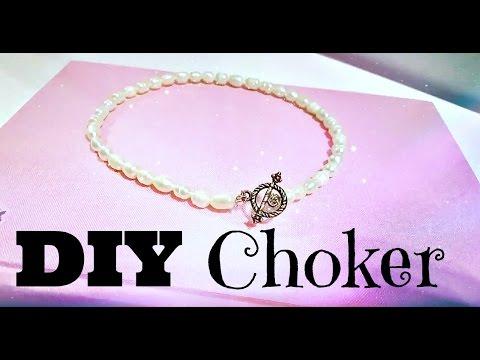 DIY Pearl Choker - Super Easy And Cute!