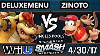 Dha 2017 Ssb4 - Eg | Zinoto (diddy Kong) Vs. Ug | Deluxemenu (bowser) Smash 4 - Smash Wii U