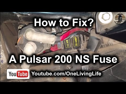 How to fix a Bajaj Pulsar 200 NS Fuse | Motorcycle Starting problem