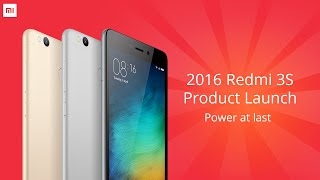 2016 Redmi 3S Product Launch