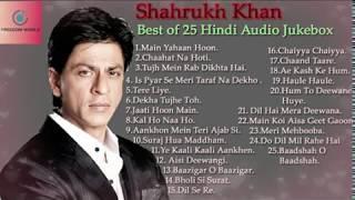 Shahrukh Khan Best Of 25 Hindi Audio Jukebox.