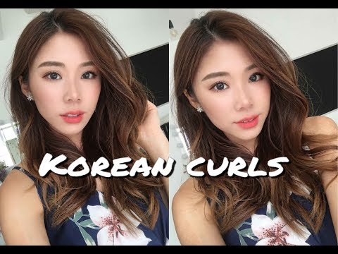 Natural Korean Waves / Curls Hairstyle | Mongabong